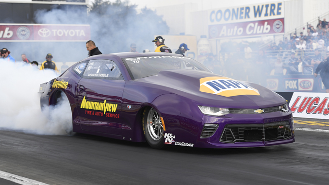 NHRA Pro Stock Vincent Nobile - action