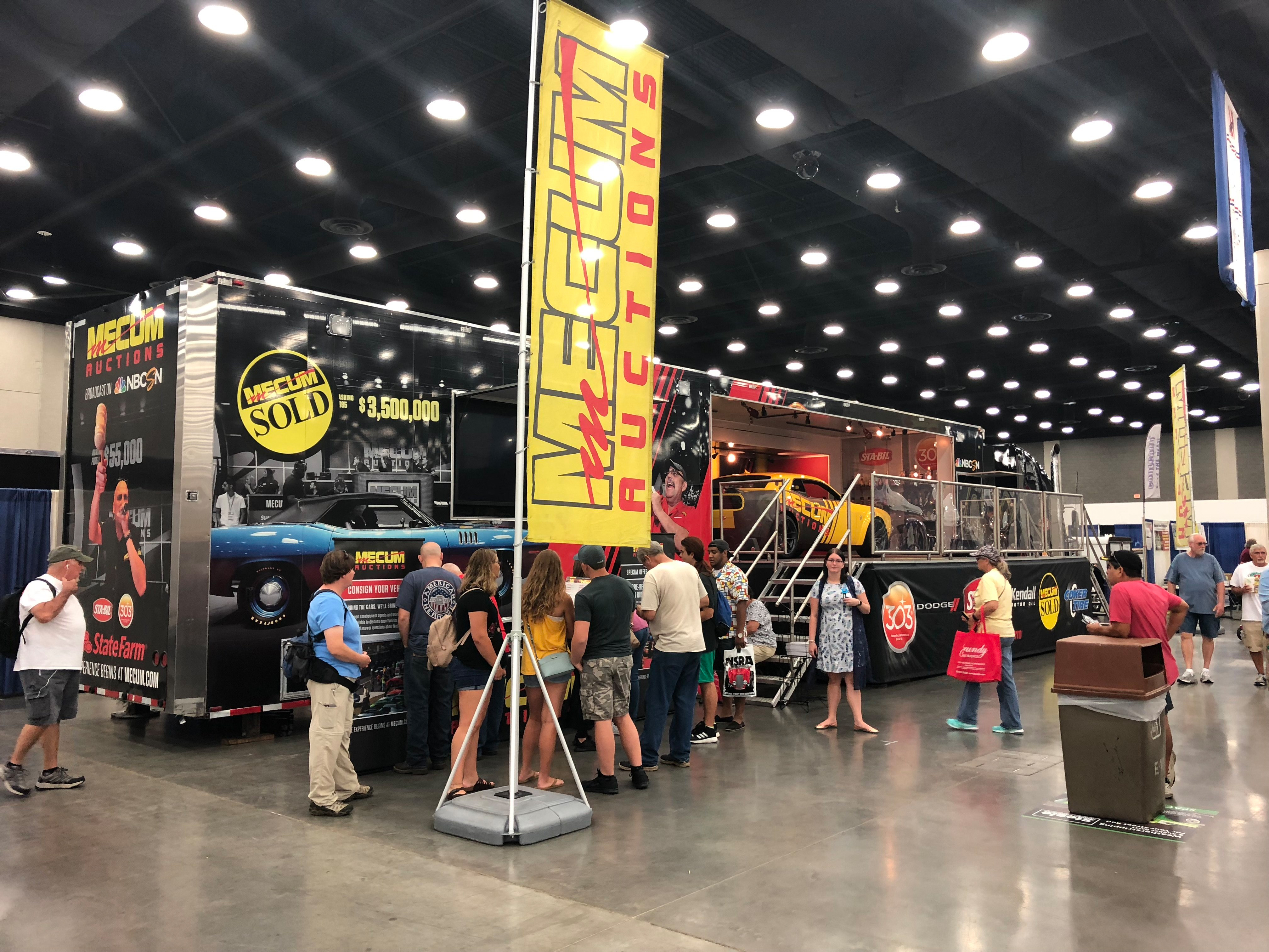 The Mecum Mobile Experience - 53-foot transport hauler complete with video screens and interactive displays