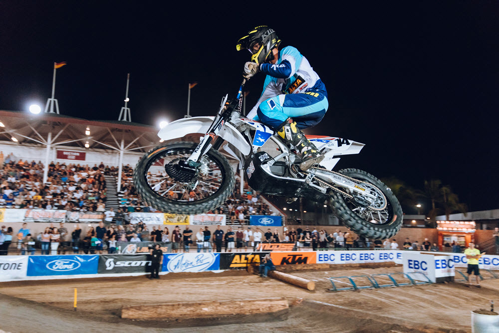 Ty Tremaine proved that the Alta Electric bike is competitive at EnduroCross - Costa Mesa 2018