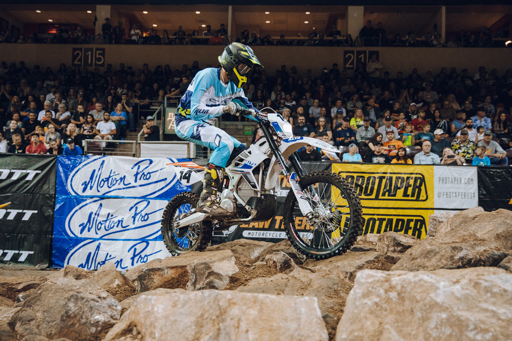Ty Tremaine put the Alta electric bike into the main at round one of EnduroCross