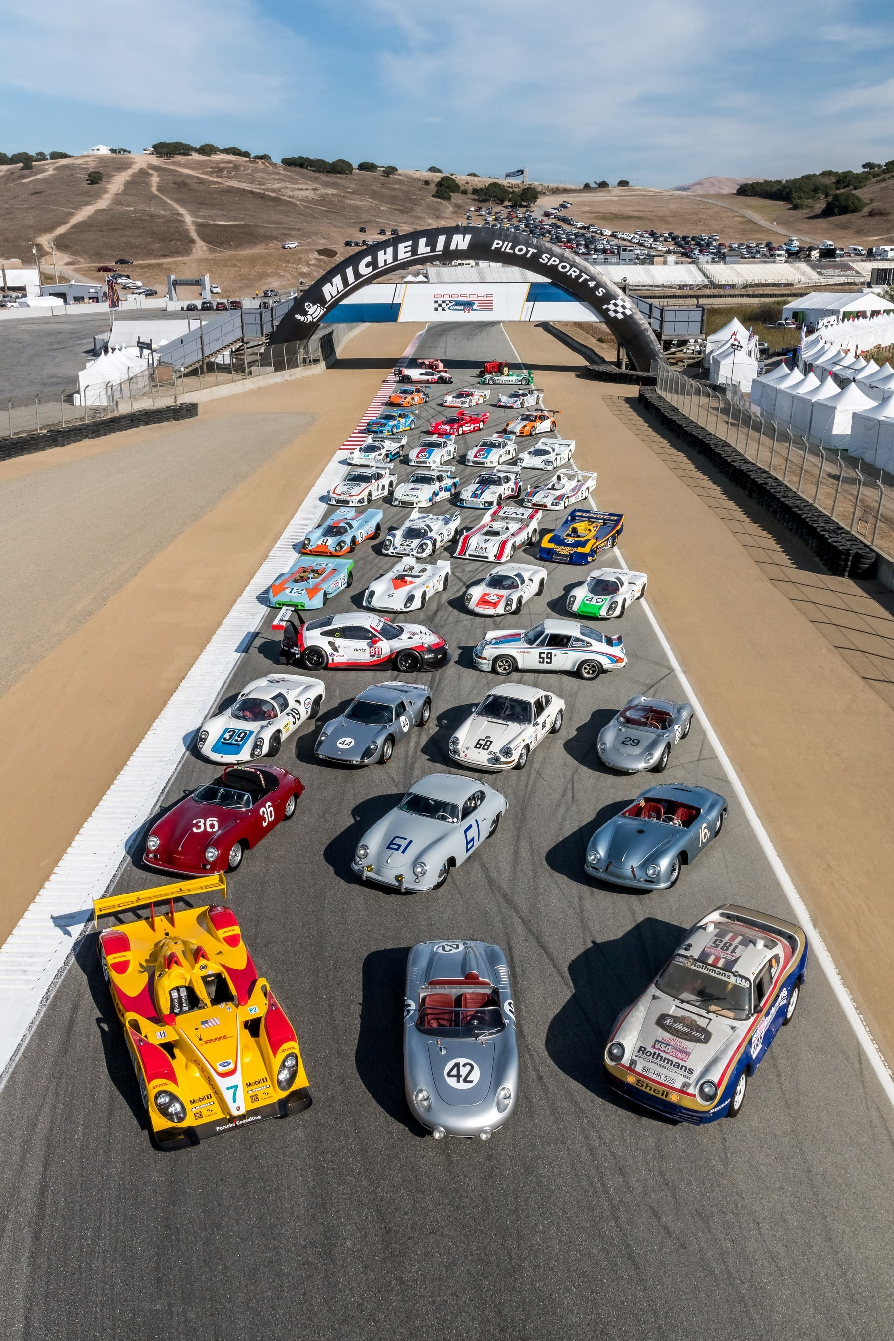 Porsche Rennsport Reunion VI honors history with record-breaking 81,550 fans.