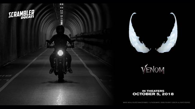 "Scrambler Ducati Plays Hero Role in Sony Pictures' New ""Venom"" Film"