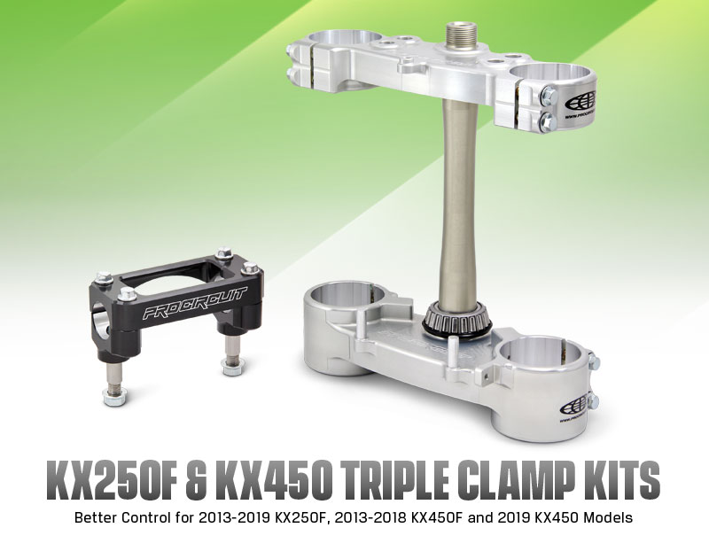 Pro Circuit KX250F/450 Triple Clamp Kits
