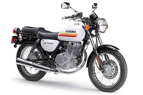 2019 Suzuki TU250X in Glass Sparkle Black - Pearl Glacier White