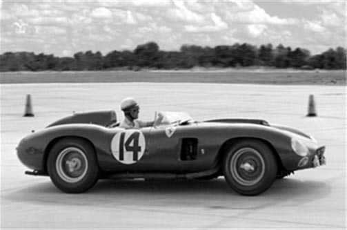 Chassis no. 0628 as seen at the 1957 12 Hours of Sebring