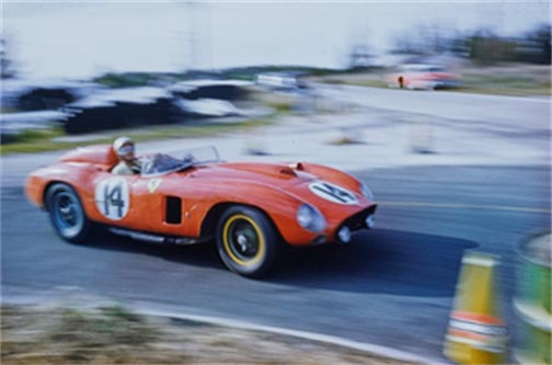 Chassis no. 0628 at the 12 Hours of Sebring in 1957