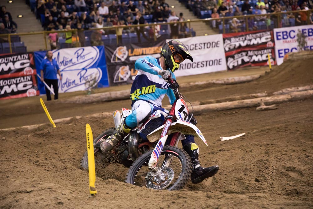 Denver Endurocross - Ty Tremaine went from Alta to Beta