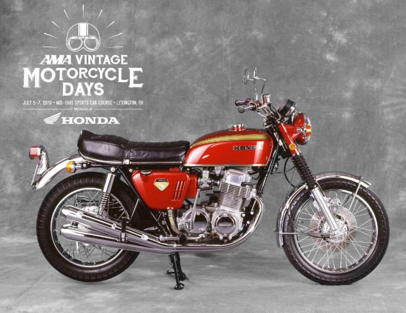 Honda CB750 and the 2019 AMA Vintage Motorcycle Days
