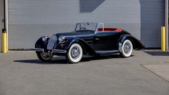 Mecum Las Vegas - 1938 Talbot-Lago T120 Roadster One-Off Coachwork by Brandone (Lot S105)