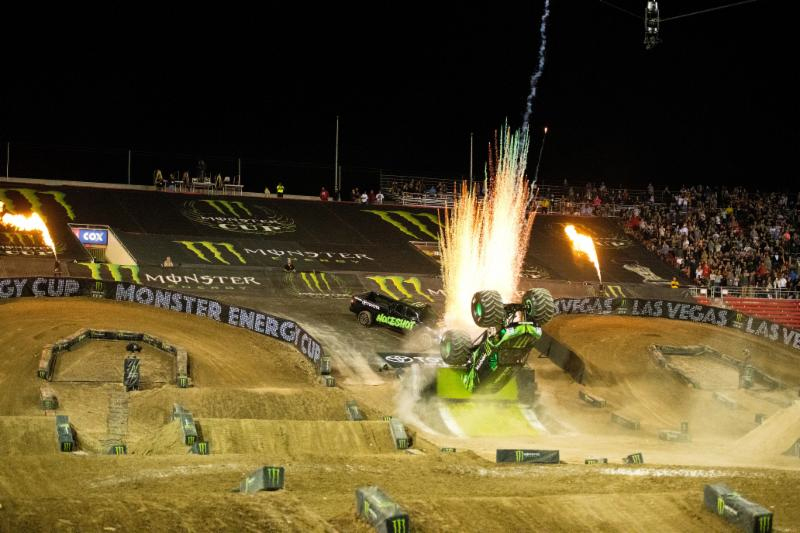 Monster Energy Monster Jam driver, Todd LeDuc, landed a first-ever backflip at Monster Energy Cup