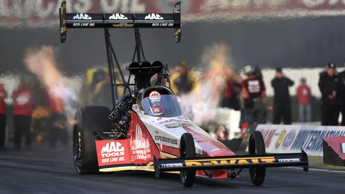 NHRA Carolina Nationals Top Fuel Doug Kalitta - action