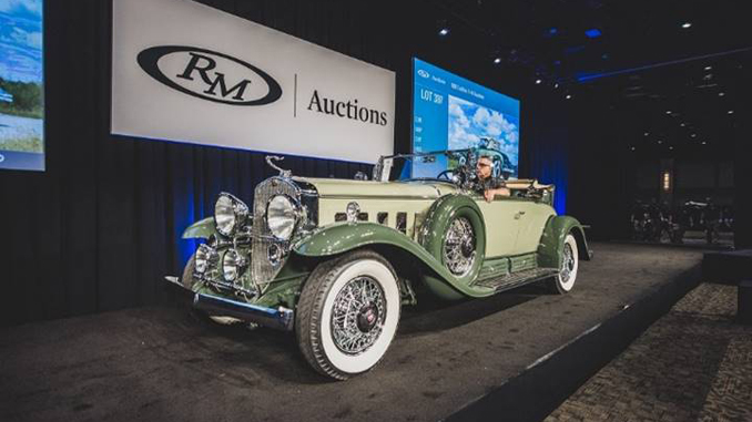RM Auctions - Hersey Sale - The top-selling 1930 Cadillac V-16 Roadster crosses RM Auctions' Hershey stage