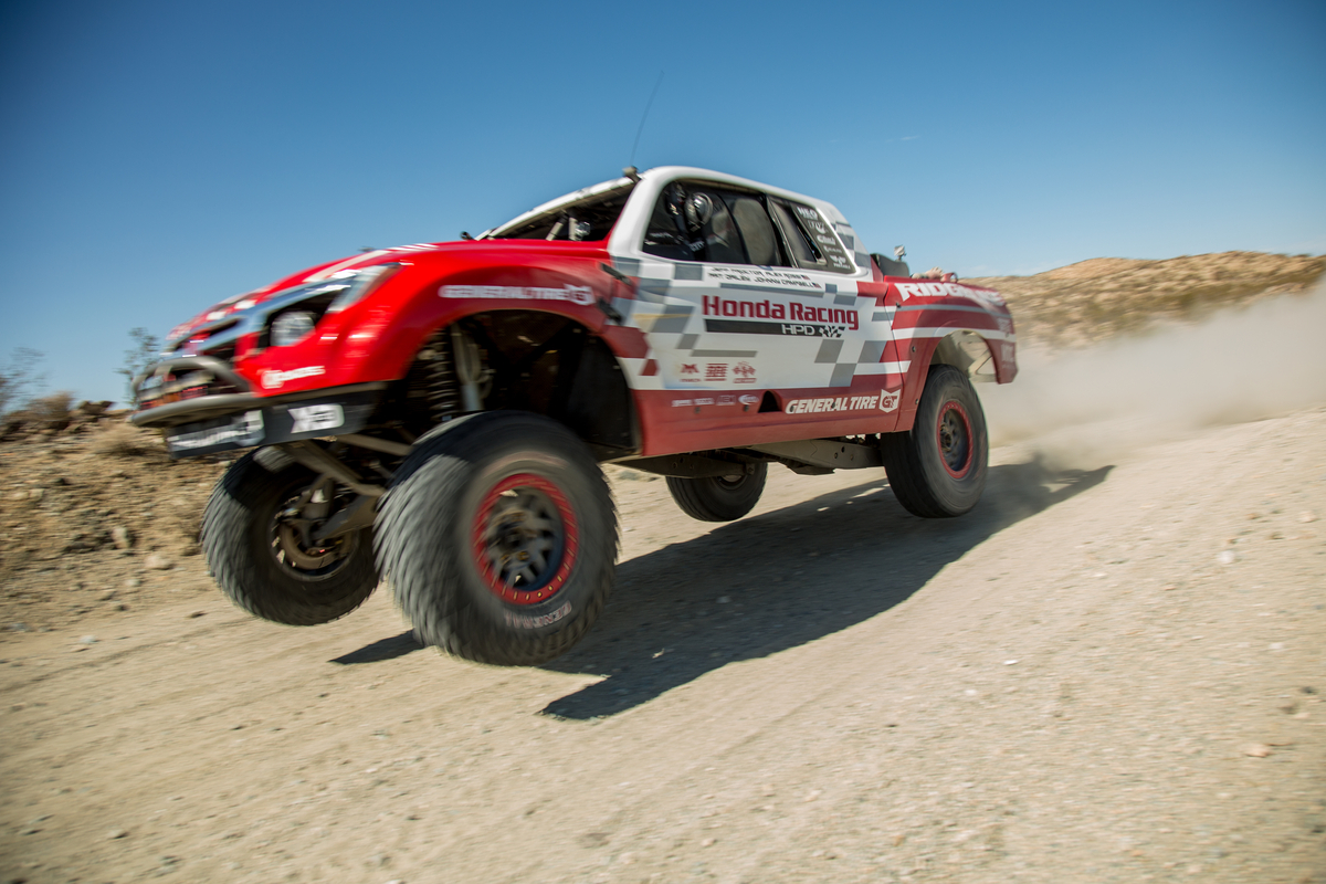 Rossi recently tested the Ridgeline Baja Race Truck for the first time in preparation for the SCORE Baja 1000.