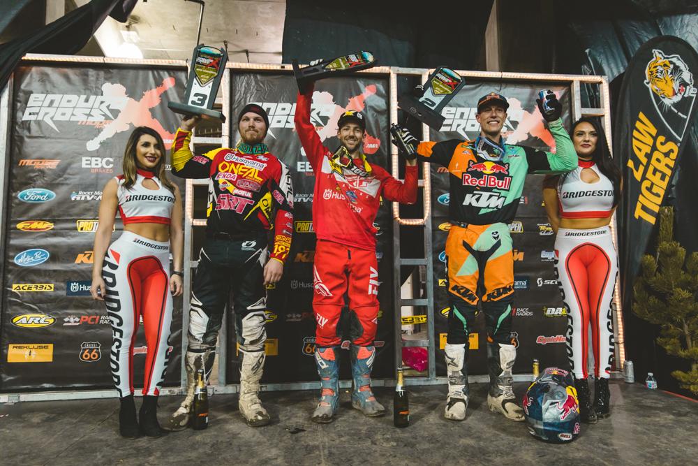 Washington Endurocross - Haaker (center) Webb (right) and Redmond shared the Everett podium