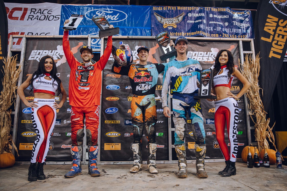 Boise EnduroCross - Webb (center) Haaker (left) and Tremaine finished first second and third