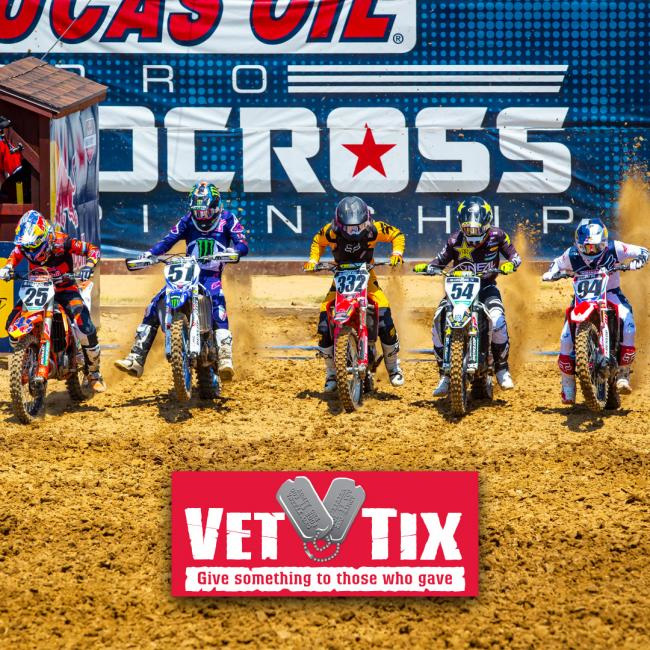 The 2019 Lucas Oil Pro Motocross season will be the eighth year of partnership with Vet Tix