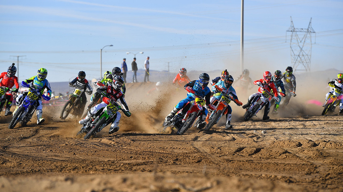 The start of the 2018 Big 6 Grand Prix Series event at Adelanto Calif. (credit- Mark Kariya)