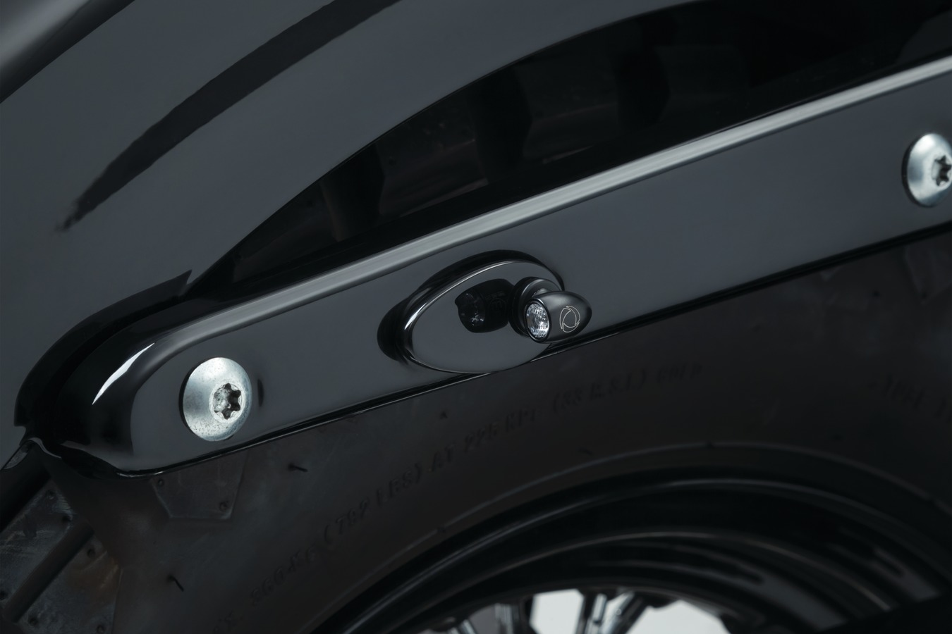 Fender Strut Cover Plates for Kuryakyn by Kellermann, Gloss Black