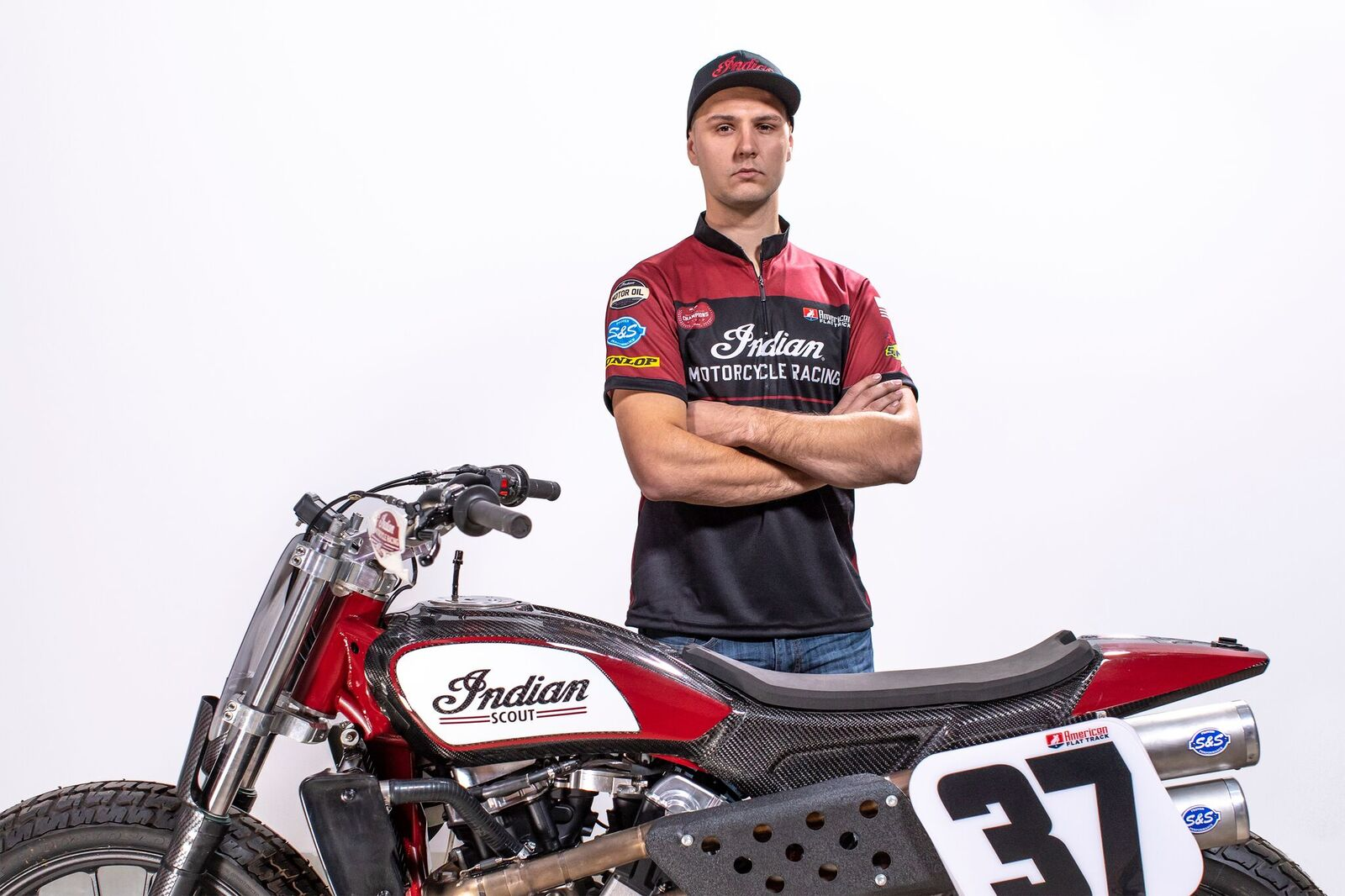 Indian Motorcycle Racing Wrecking Crew - Bronson Bauman