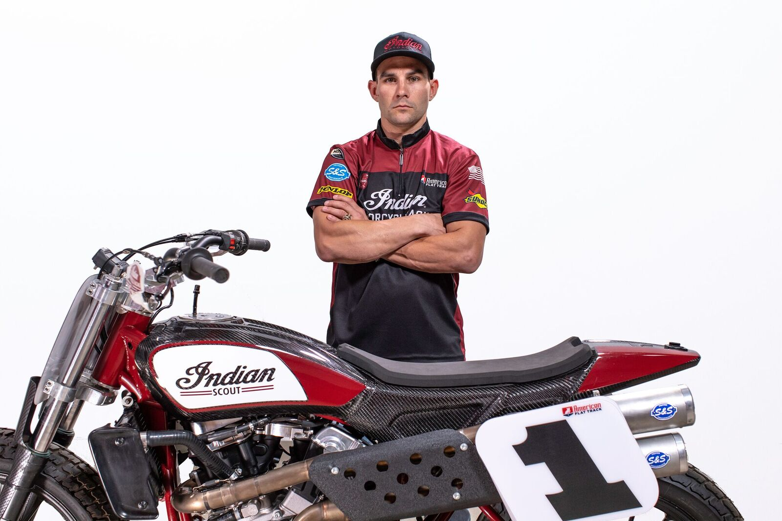 Indian Motorcycle Racing Wrecking Crew - Jared Mees
