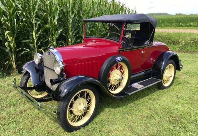 Mecum Kansas City - 1929 Ford Model A Roadster 201-40 HP 3-Speed (Lot F52)