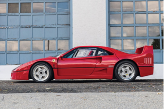 Petersen Automotive Museum Auction - 1989 Ferrari F40 (Motorcar Studios © 2018 Courtesy of RM Sotheby's)