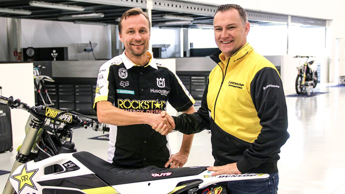 Rockstar Energy Husqvarna Factory Racing MXGP partner with Dunlop