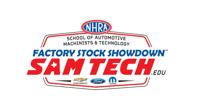 SAMTech.edu NHRA Factory Stock Showdown logo