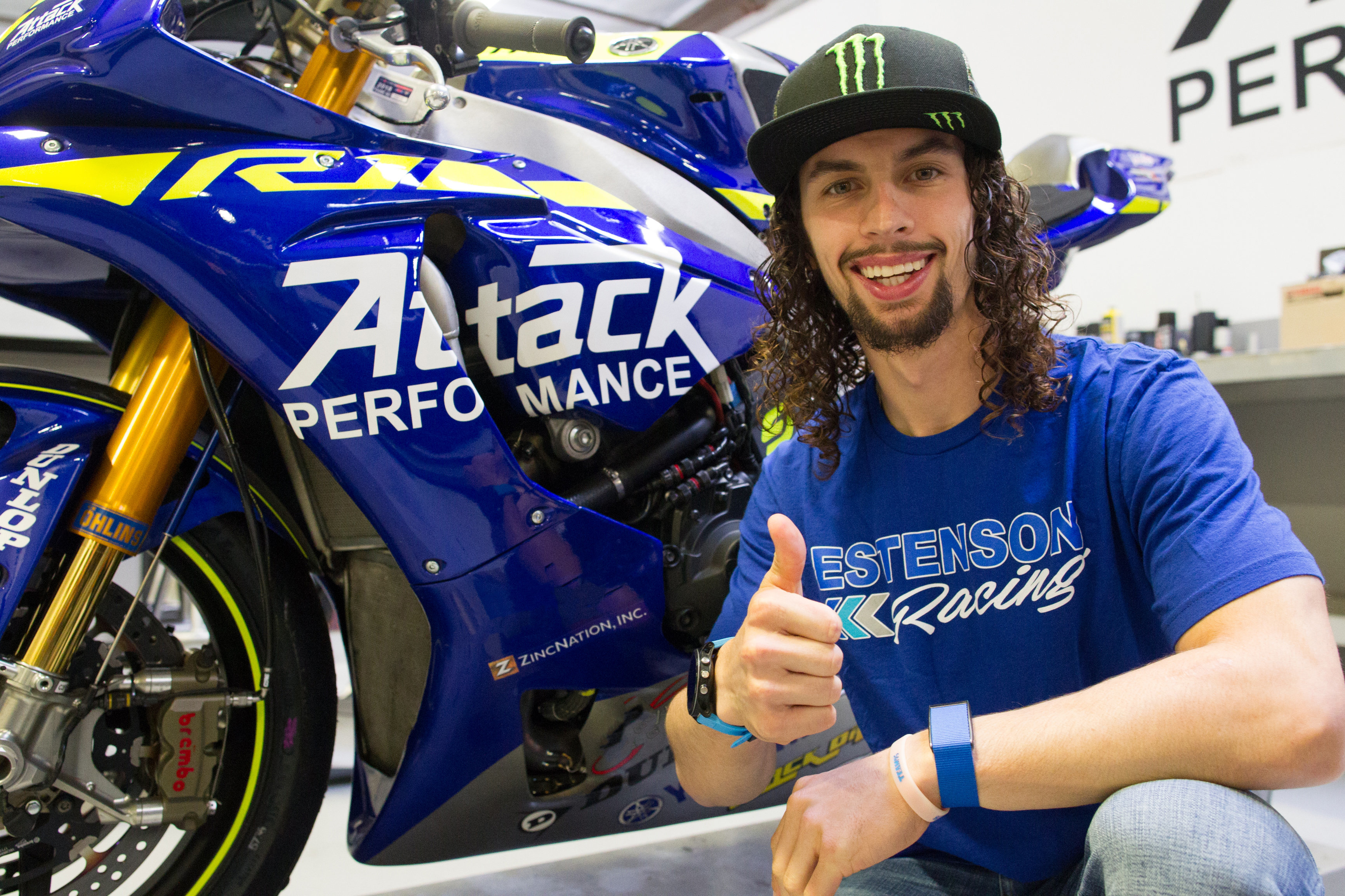 JD Beach will ride an Attack Performance Yamaha in the MotoAmerica Superbike Series in 2019