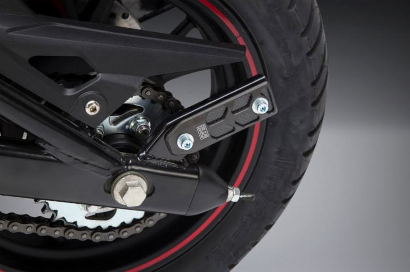 Yoshimura - 2018 Benelli TNT135 Stand Stopper without spool installed