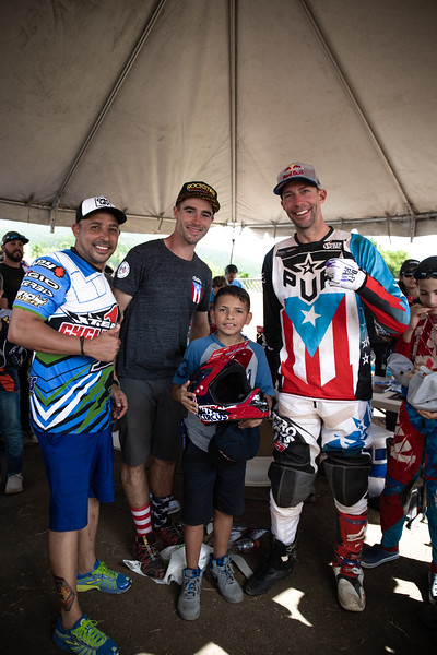 Travis Pastrana and Ryan Sipes met many local families on their relief trip to Puerto Rico in December 2018. (credit- Scooter Cooper)