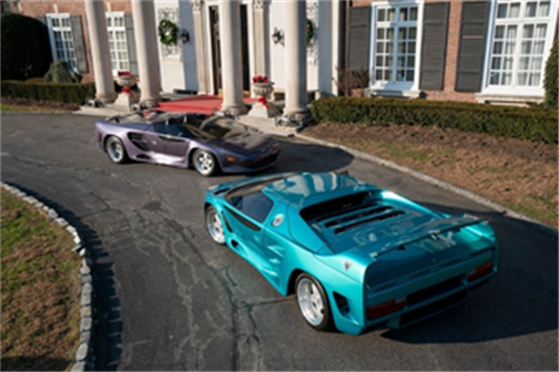1993 Vector Avtech WX-3R Roadster Prototype and 1993 Vector Avtech WX-3 Prototype - RM Sotheby's Arizona (Erik Fuller © 2018 Courtesy of RM Sotheby's)