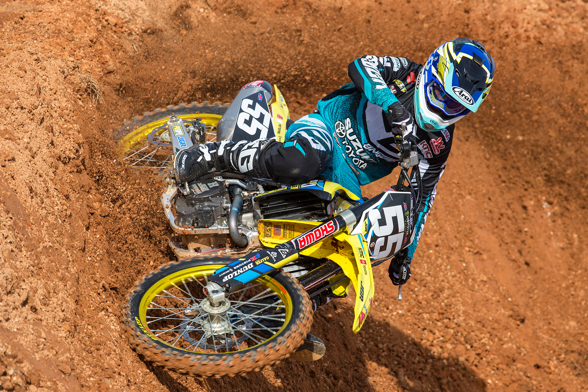 Joining Martin in the 250 East Supercross championship Kyle Peters (#55)