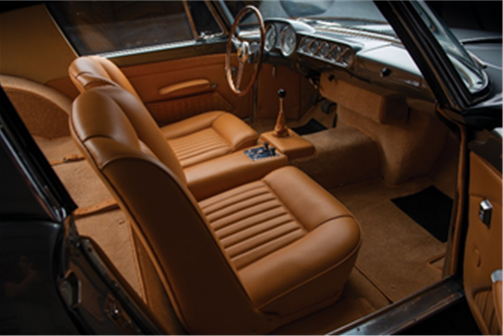 The interior of the 1957 Ferrari 250 GT Coupe Speciale by Pinin Farina - RM Sotheby's Arizona (Darin Schnabel © 2018 Courtesy of RM Sotheby's)
