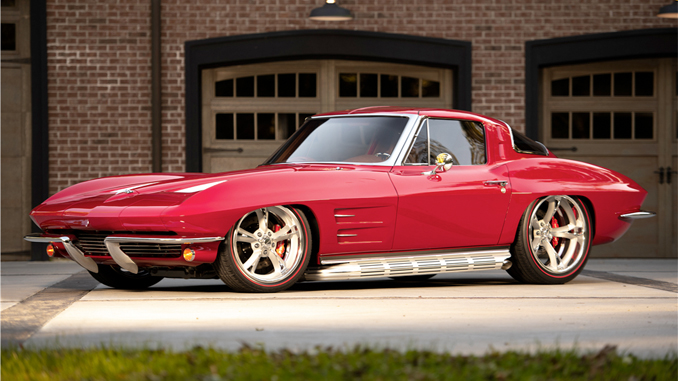 This 1963 Chevrolet Corvette Custom Split-Window Coupe (Lot #1333) is one of many fine custom creations heading to the Barrett-Jackson Scottsdale Auction