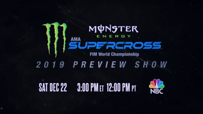 Tune In- Monster Energy Supercross 2019 Preview Show on NBC