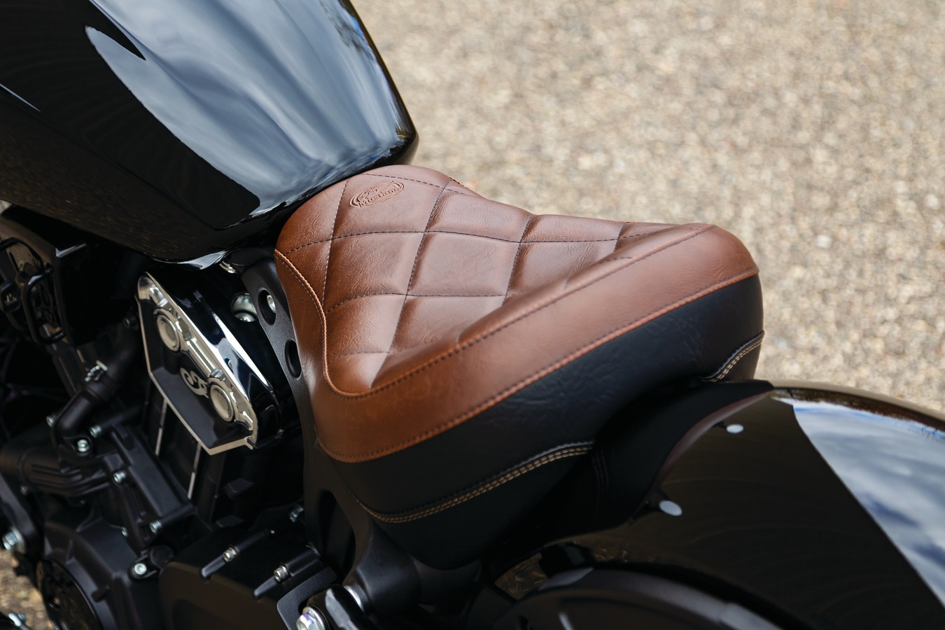 Mustang Standard Touring Solo for Indian Scout Bobber - Distressed Brown