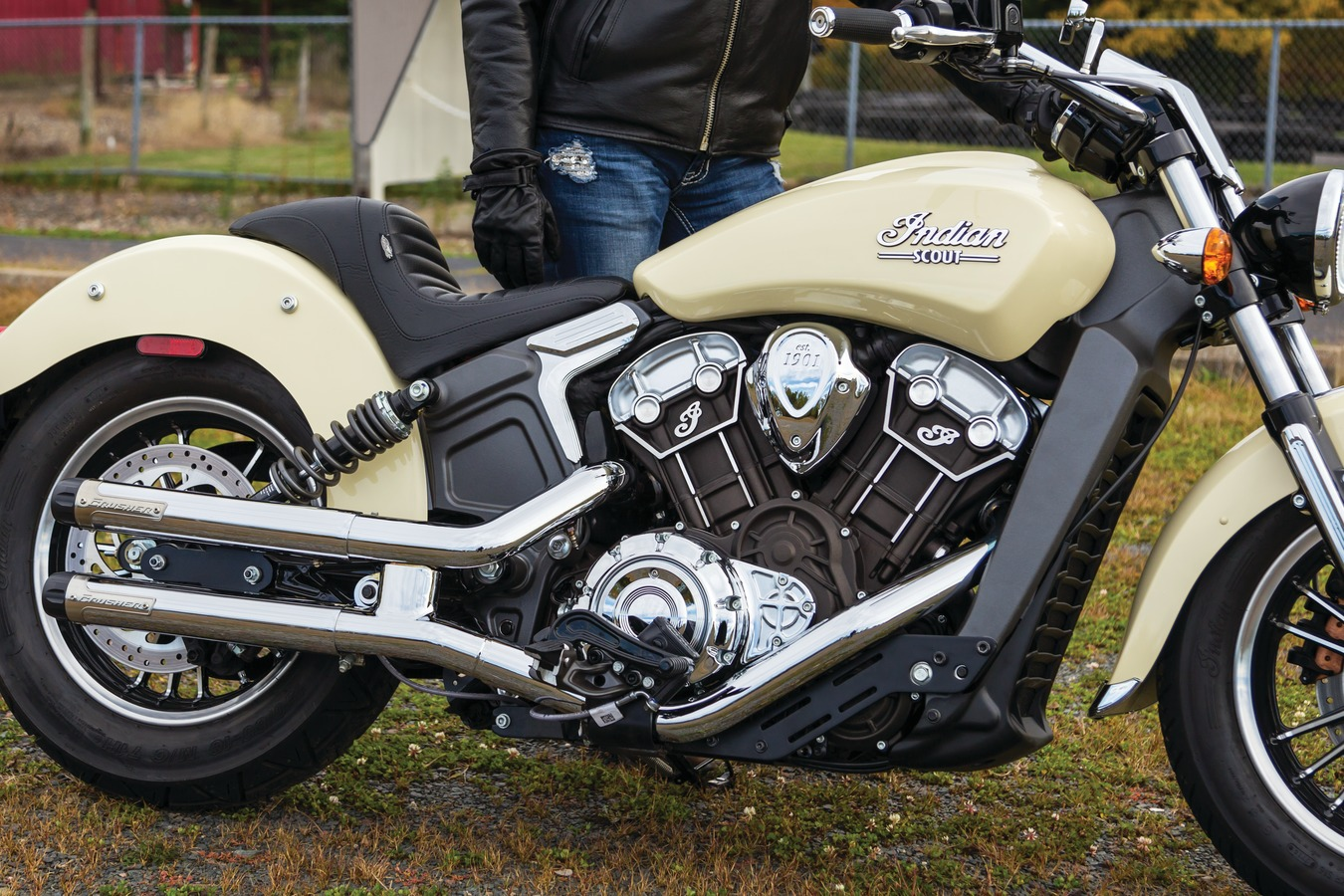 Mid Controls for Indian Scout, Black