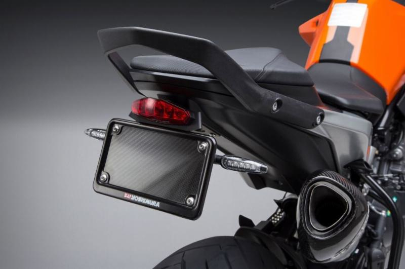 2019 KTM 790 Duke Fender Eliminator Kit shown with Yoshimura LED turn signals