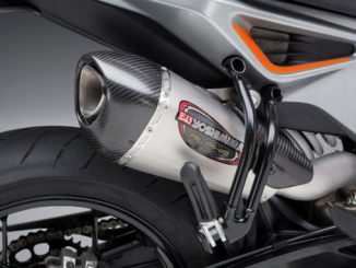 2019 KTM 790 Duke with Yoshimura Alpha T Slip-on system SS-SS-CF WF