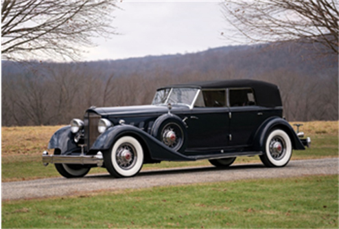 1934 Packard Twelve Convertible Sedan Custom (Erik Fuller © 2018 Courtesy of RM Sotheby's) RM Sotheby's Amelia Island