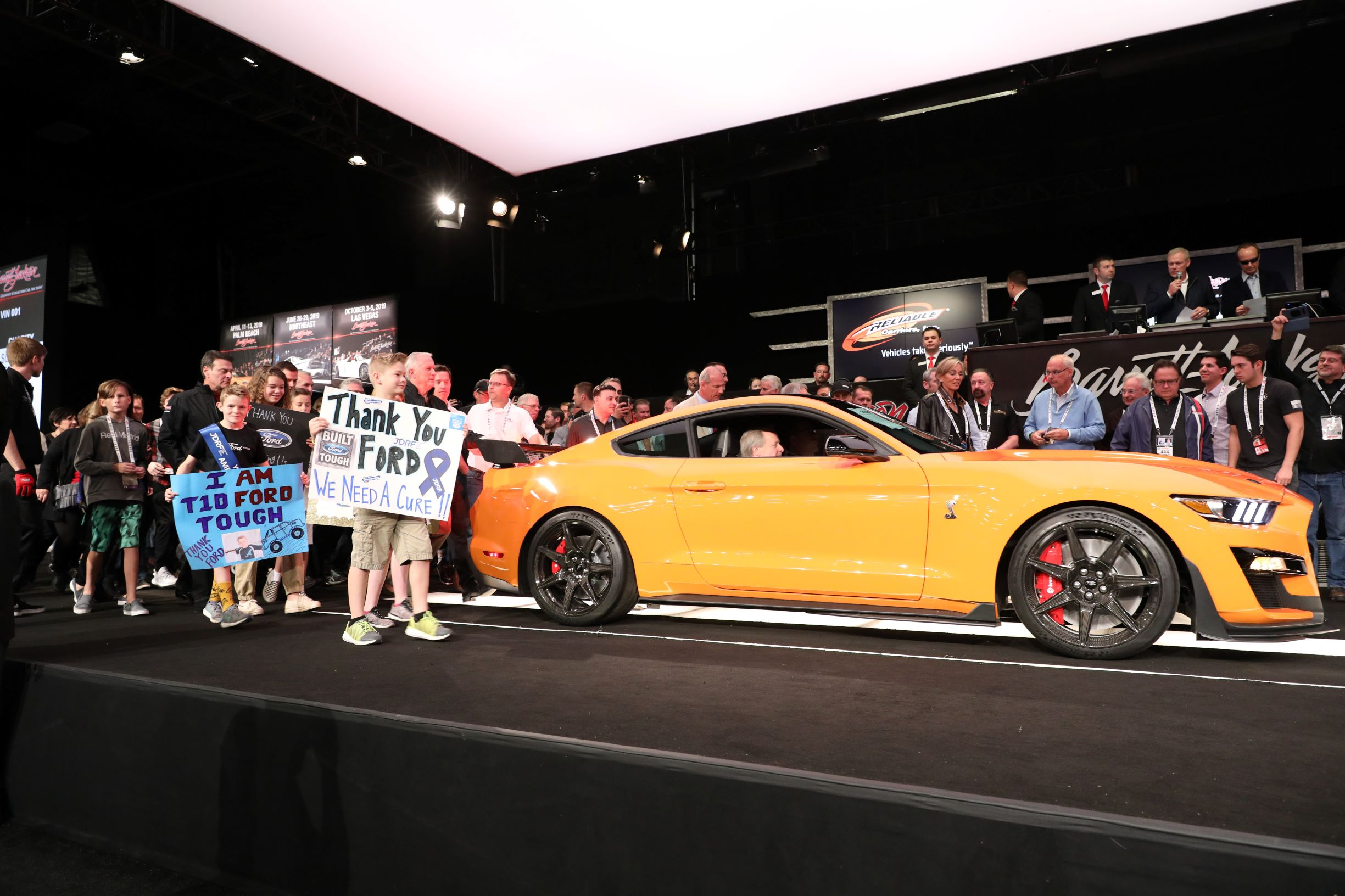 2020 Ford Mustang Shelby GT500 VIN 001 (Lot #3008), which sold for $1.1 million to benefit JDRF - Barrett-Jackson Scottsdale