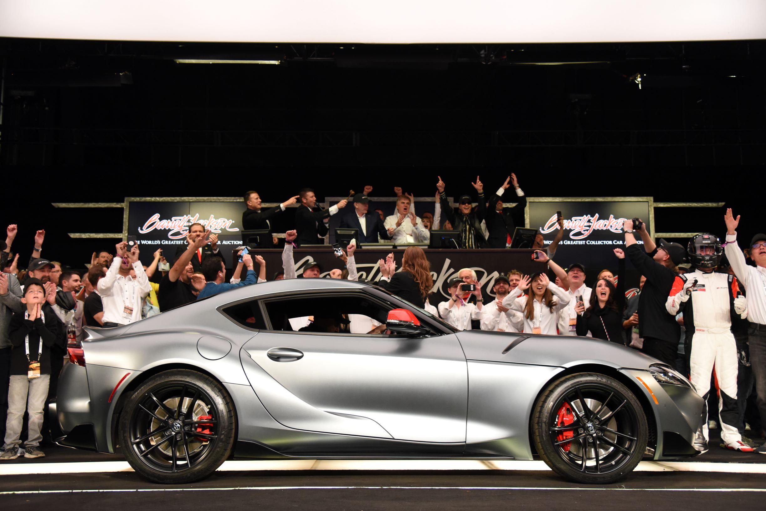 2020 Toyota Supra VIN 20201 (Lot #3010), which raised $2.1 million to benefit the American Heart Association and The Bob Woodruff Foundationk - Barrett-Jackson Scottsdale