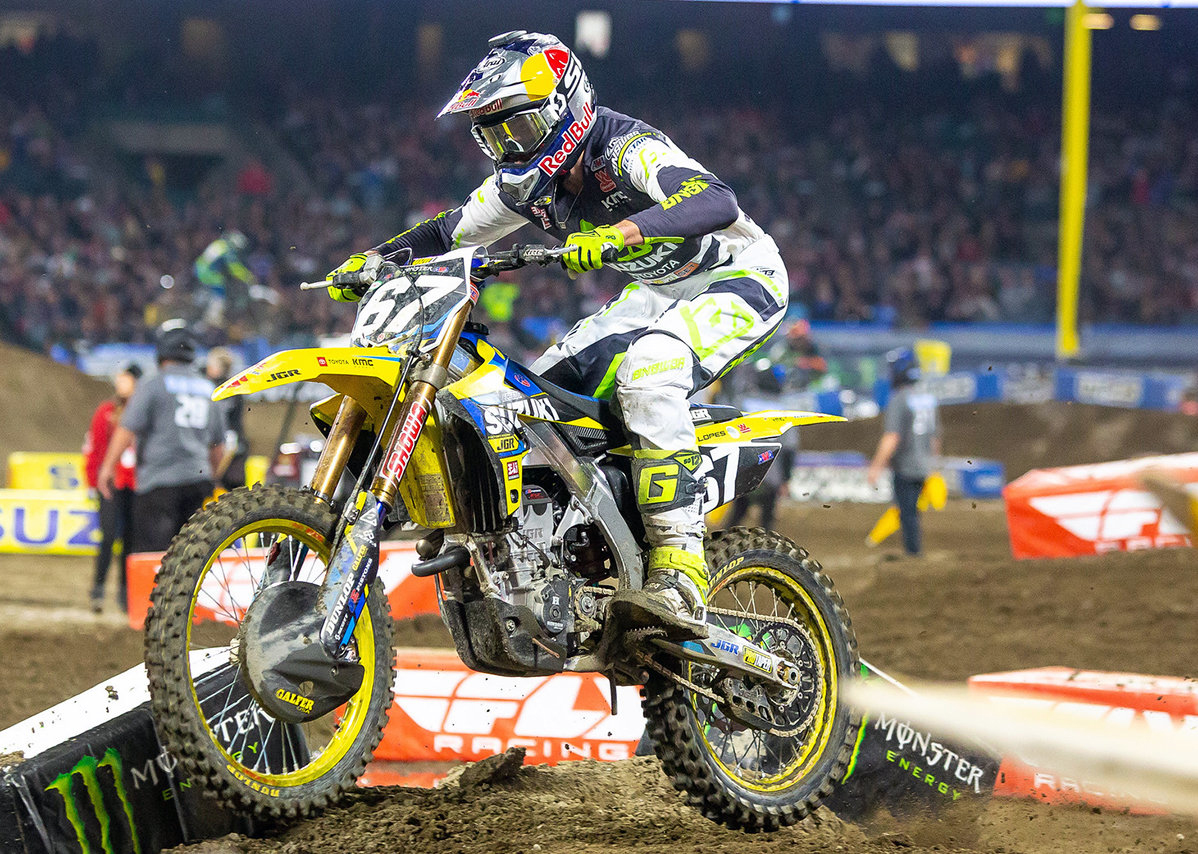 Enzo Lopes - JGRMX-Yoshimura-Suzuki Factory Racing Team - Anaheim 2