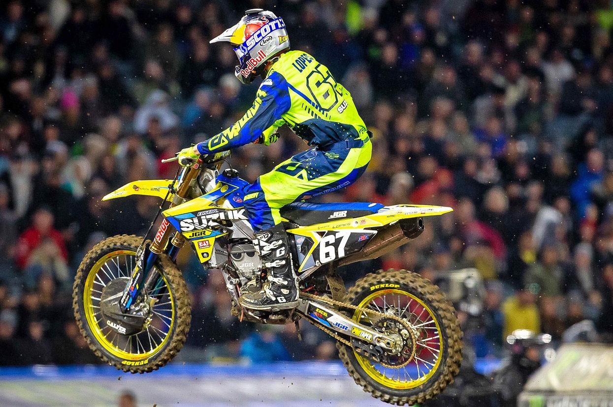 JGRMX-Yoshimura-Suzuki Factory Racing - Enzo Lopes #67 - Anaheim I