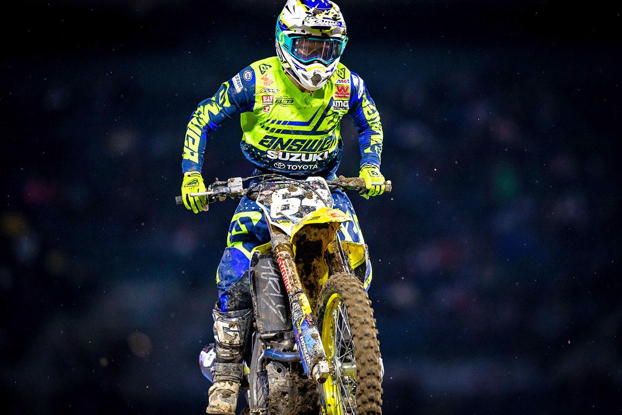 JGRMX-Yoshimura-Suzuki Factory Racing - Jimmy Decotis #64 - Anaheim I