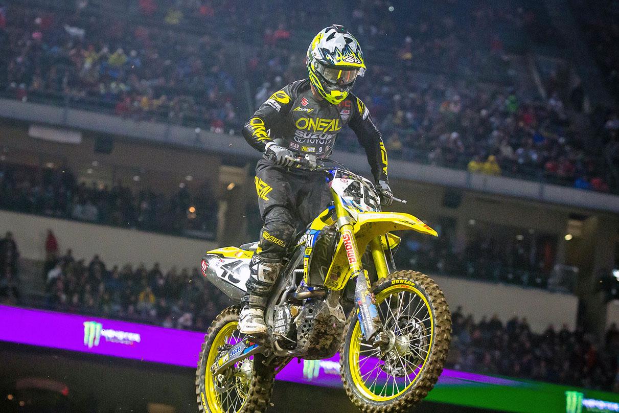 JGRMX-Yoshimura-Suzuki Factory Racing - Justin Hill #46 - Anaheim I