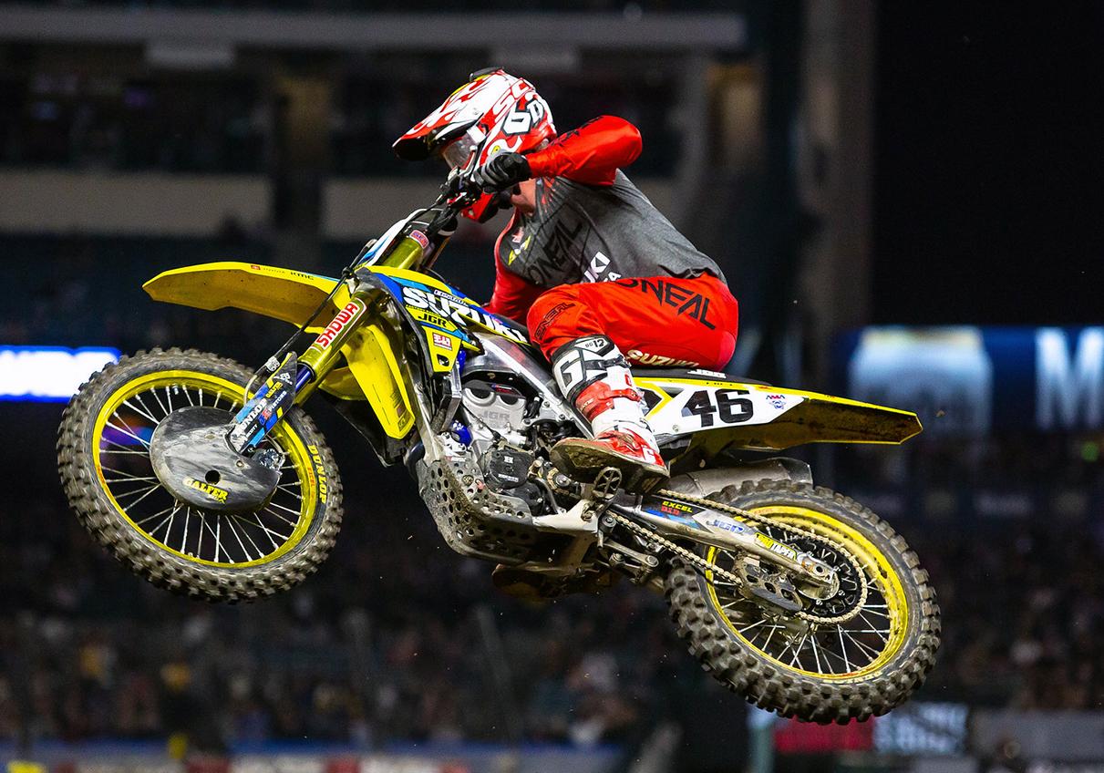 Justin Hill - JGRMX-Yoshimura-Suzuki Factory Racing Team - Anaheim 2