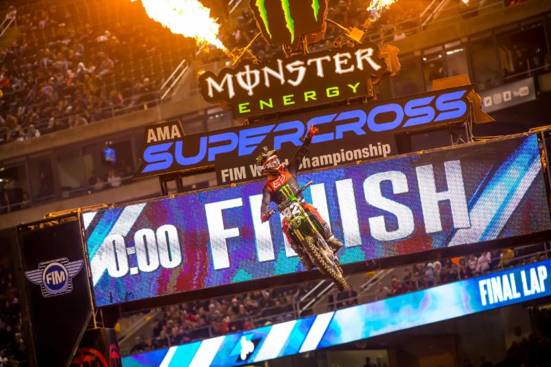 Monster Energy Supercross - Adam Cianciarulo claims his second victory of the season in the Western Regional 250SX Class Championship