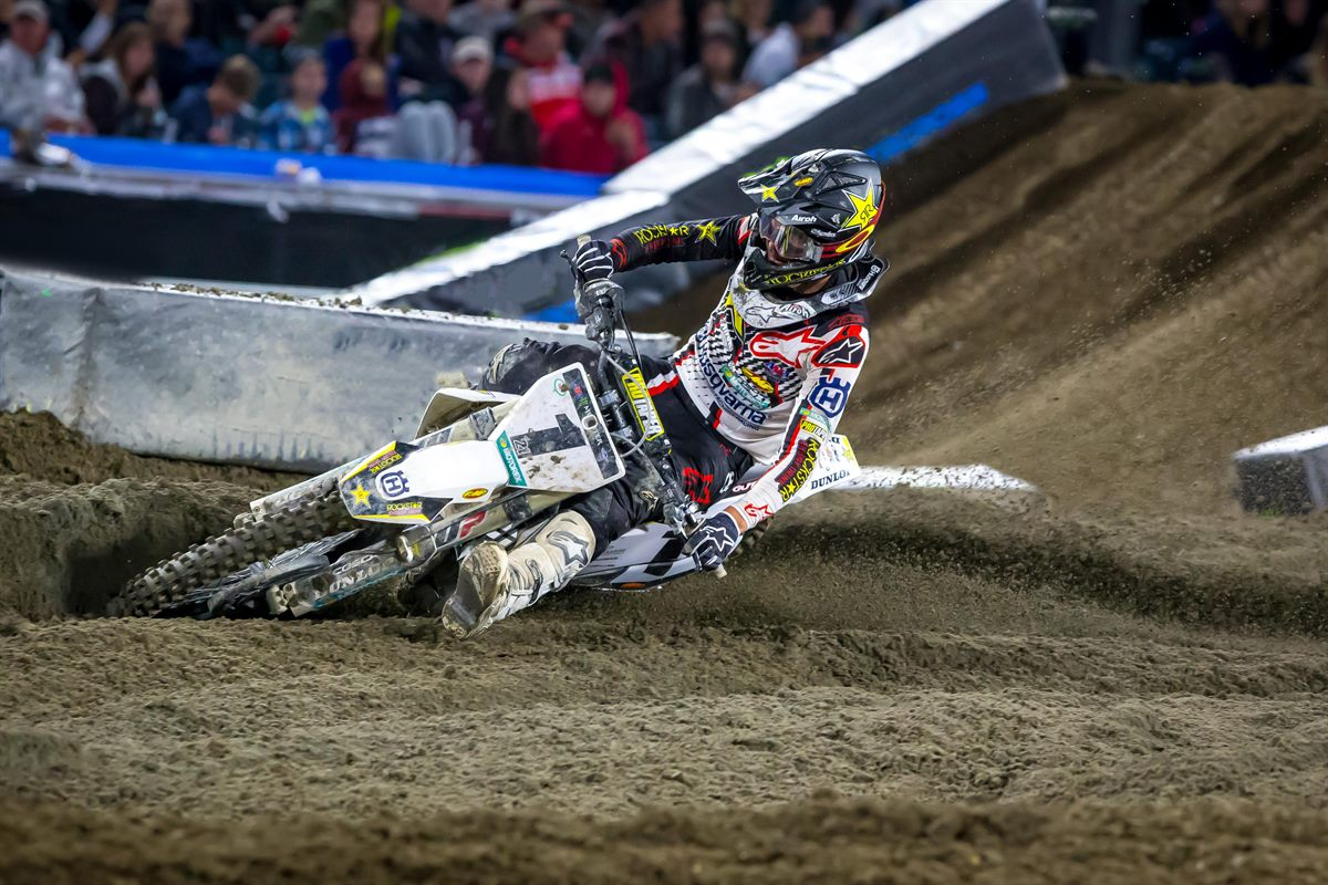 Rockstar Energy Husqvarna Factory Racing's Jason Anderson - Anaheim 2 SX (Photo_ Simon Cudby)(4)